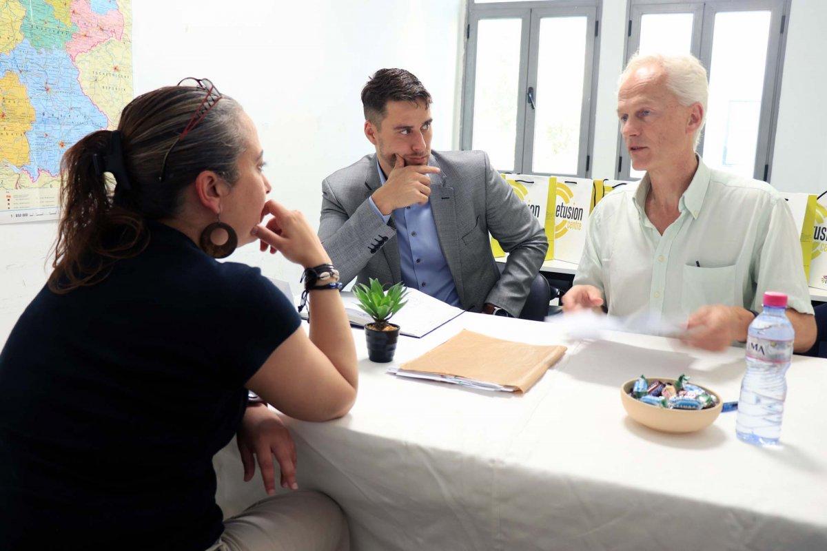 Prof. Dr. Knecht und Dr. Mauch beim Recruitingvon ausländischem Pflegepersonal in Tunesien